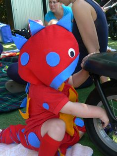 Homemade DIY halloween Dragon outfit for toddler