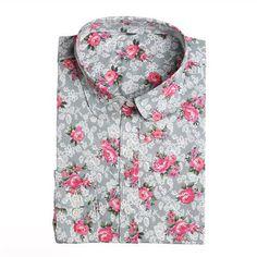Floral Long Sleeve Vintage Blouse