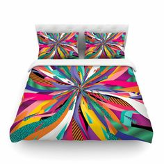 East Urban Home Pop Abstract by Danny Ivan Featherweight Duvet Cover Size: