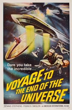 Voyage to the End of the Universe 1964 - original vintage movie poster for the cult Czech science fiction film Voyage to the End of the Universe directed by Jindrich Polak and starring Dennis Stephens and Francis Smollen (Zdenek Stepanek and Frantisek Smolik), listed on AntikBar.co.uk