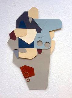 "Saatchi Art Artist Craig Anczelowitz; Collage, ""Faceted 2.2"" #art"
