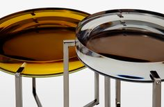 Holly Hunt Glass Tables...amazing in real life, like jewelry for your home
