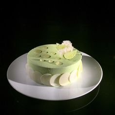Gin and Tonic entremet - lime mousse, gin Cremeux , tonic gelee, lime sponge cake #bachour #bachoursimplybeautiful