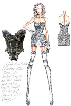 Fashion Sketches Dresses Consert