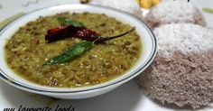 !╚»МŶ FĂVŐÚŔĨŤĔ FŐŐĎŚ«╝: Cherupayar (Green Gram) Curry and Puttu