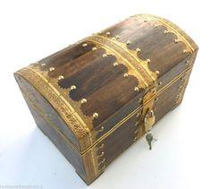 Truhe Schatzkiste Holzkiste Holzbox Holztruhe Schatztruhe Box Geschenk | eBay