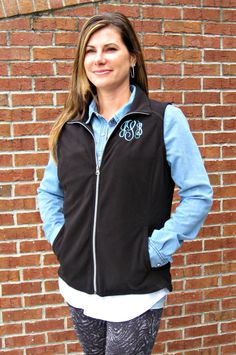 Ladies Microfleece Vest by jansnstitches on Etsy