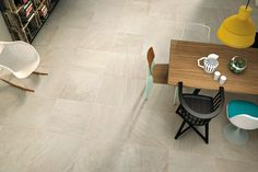 """Triboo is a stone-effect ceramic product with a contemporary look resulting from detailed research into materials and colours. This collection draws inspiration from """"blend design"""" - an architectural trend that mixes and juxtaposes elements of natural inspiration and combines them with a strong technological content. #porcelain #stone #flooring #design #interiordesign #architecture www.GranitiVicentia.com"""