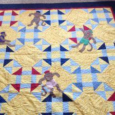 John's quilt. Crazy monkey - Debbie mumm pattern from project kids