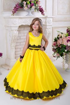 109.00$  Buy here - http://vifpk.justgood.pw/vig/item.php?t=srpkkjk26814 - Pageant Flower Girl Dress Kids Birthday Wedding Bridesmaid Gown Formal Dresses