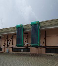 #Hybrid_solar_A/C absorbs solar energy to heat the inside medium by use of solar collector.