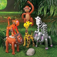 Assorted Inflatable Zoo Animals - Lion | 1pc