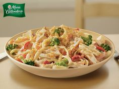 You can taste the comfort of a home cooked meal in Marie's Grilled Chicken Alfredo Bake.