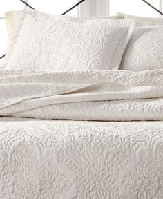 Martha Stewart Collection Lush Embroidery Queen Bedspread, Created for Macy's - Quilts & Bedspreads - Bed & Bath - Macy's