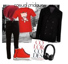 """""""Untitled #24"""" by koolkolourz on Polyvore featuring Junya Watanabe Comme des Garçons, Coal, Converse, River Island, Beats by Dr. Dre, men's fashion and menswear"""