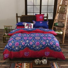 home ideas Chinese Style Cotton Blend Bedding Set Duvet Cover Flat Sheet Pillowcase Bed Sheet Twin Full Queen King Size *** Detailed information can be found on www.aliexpress.com by clicking on the image