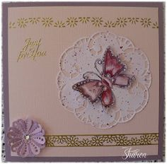 MD Doily Card Marianne Design, Doilies, Birthday Cards, Card Ideas, Decorative Plates, Card Making, Paper Crafts, Lace, How To Make