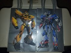 Transformer Goodie Bags Loot bags Favor Bags Party Bags Treat Bags Bumblebee Optimus Prime Autobots Decepticons Megatron Starscrean  10 Pack by EventsDoneRight on Etsy