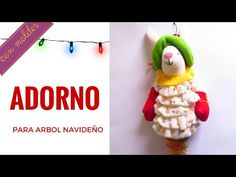 ADORNO PARA EL ARBOL DE NAVIDAD – muñequería navideña Bunny, Christmas Ornaments, Holiday Decor, Facebook, Videos, Youtube, Craft, Ornaments, Needlepoint