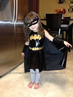 Easy Last-Minute Homemade Bat Girl Costume for a Little Girl... Homemade Costume Contest