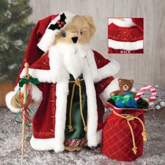 "Spreading holiday cheer where ever he goes, our One-Of-A-Kind Limited Edition St. Nick Bear ""Artists Proof"" Auction is live! 100% of proceeds donated to Make A Wish Foundation."
