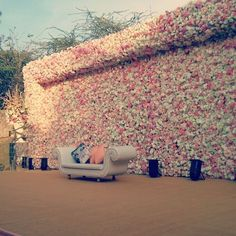 Floral wall decor , stage backdrop , hundred roses