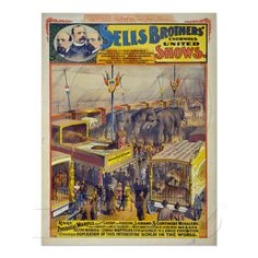 Sells Brothers' Enormous United Shows Poster