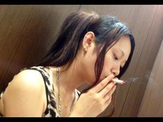 Sweet Japanese girl smoking 72