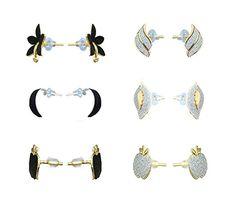 Waama Jewels Six Beautiful Studs Combination Combo Stud Earrings For Girls: Amazon.in: Jewellery