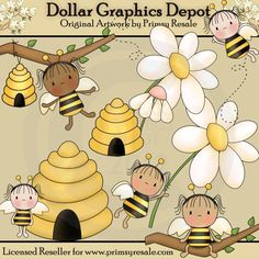 Bumble Bee Fairies - $1.00 : Dollar Graphics Depot, Quality Graphics ~ Discount Prices