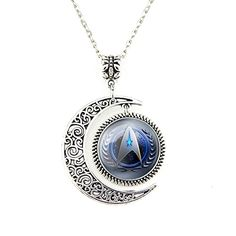 Moon Jewelry Star Trek Necklace Star Trek Jewelry Silver Pendant Charm Necklace Vogue Jewellery Gift JewelleryDesigner