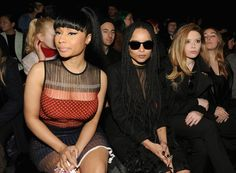 Pin for Later: Les Stars Sont au premier Rang Pour la Fashion Week de New York Nicki Minaj, Zoë Kravitz, Natasha Lyonne Au défilé Alexander Wang.