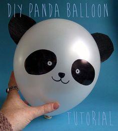 Panda con palloncini