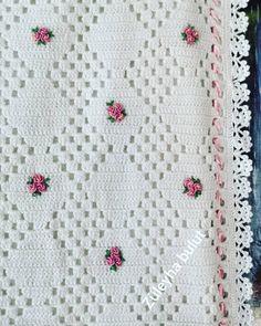 Crochet Flower Tutorial, Crochet Flowers, Manta Crochet, Blankets, Vintage, Crocheted Baby Afghans, Crochet Carpet, Bedspreads, Crocheting