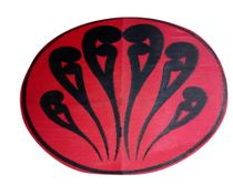 New Zealand - Whakapapa by Michelle Walters Red / Black 1.8m round mat
