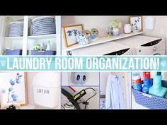 How to Organize a Tiny Laundry Room (and Install Elfa Shelving) | Clutter Video Tip - YouTube