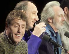 British rockers The Who, set to begin their U.S. tour Monday just four days after the death of bass player John Entwistle, have hired session musician Pino Palladino to fill in for their fallen comrade. Entwistle (R) is seen in this April 10, 2002, file photo with fellow Who members Roger Daltrey (L) and Pete Townshend, at a press conference in New York. Photo by Peter Morgan