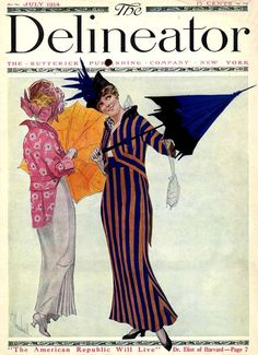 The Delineator Magazine, July 1914. Illustration by Carl Kleinschmidt
