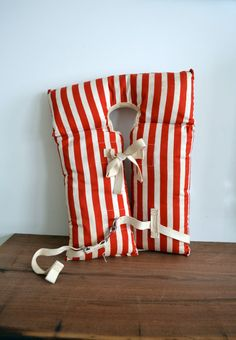 Vintage Red and White Striped Child's Life Vest by alittlemodern