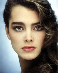 "THE eyebrow icon Brooke Shield | The ""natural"" un-plucked eyebrows were in fashion. (Beauty Women Brows)"
