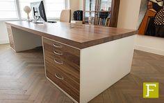 bureau maatwerk design noten notenhout meubelmaker fijn timmerwerk hillegom