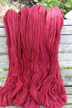 Dk. Cranberry Lambs wool blend by FibahForEwe on Etsy, $12.00