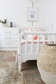 girl bedroom decor with jenny lind bed and pink boho rug, shared girl room decor. girl bedroom decor with jenny lind bed and pink boho rug, shared girl room decor, girl room design Big Kids Room, Trendy Bedroom, Girl Beds, Bedroom Interior, Bedroom Design, Shared Girls Bedroom, Girls Bedroom, Girl Room, Shared Girls Room
