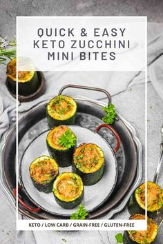 Gluten Free Appetizers, Low Carb Appetizers, Best Appetizers, Appetizer Recipes, Best Zucchini Recipes, Vegetable Recipes, Low Carb Side Dishes, Side Dish Recipes, Sugar Free Recipes