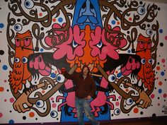 Chapter wall painting Swn festival by Pete Fowler Monsterism, via Flickr