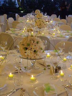 Risultati immagini per addobbi tavoli  ricevimento nozze