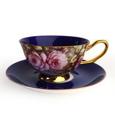 Satin Shelley Teacup, Purple