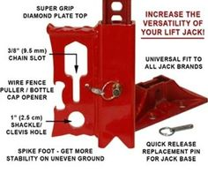 Amazon.com: JackMate Lift Jack Accessory - Fire Engine Red: Automotive