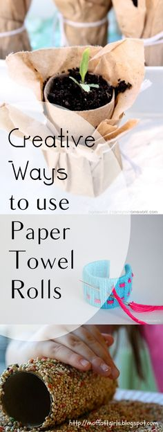 Creative Ways to use Paper Towel Rolls