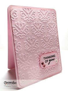 Happy Birthday using embossing folders from Sizzix and Distress Pain from Ranger @ cherry-bee.net